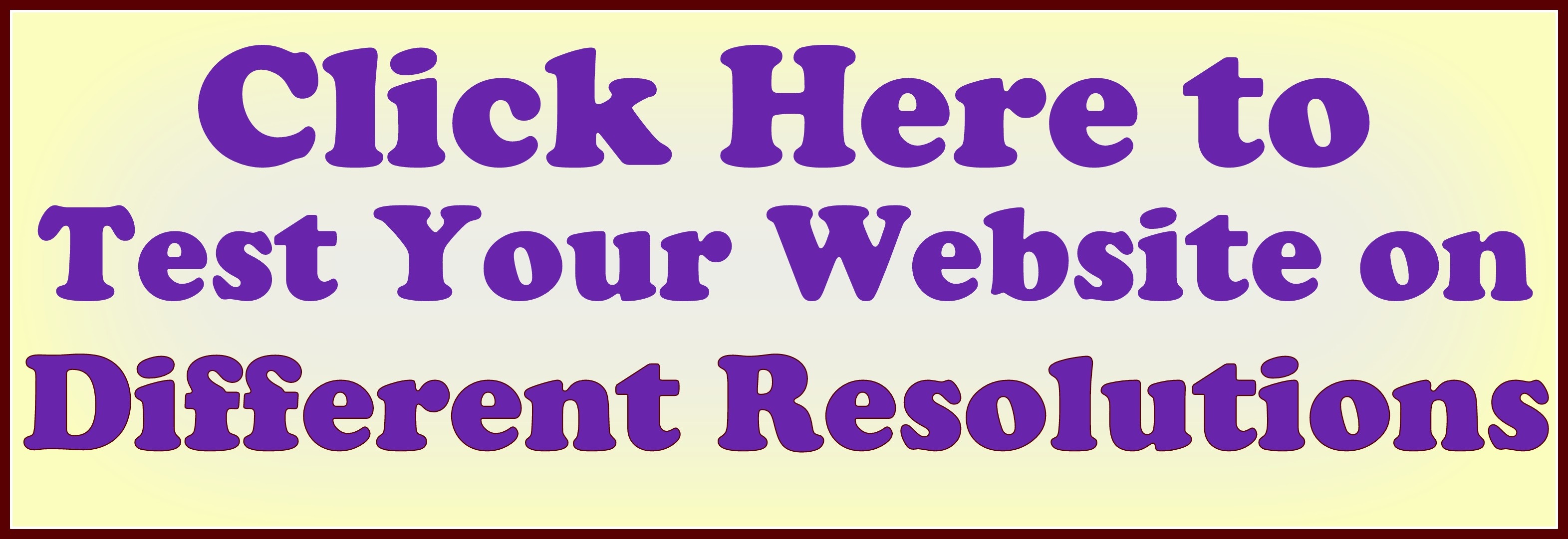 Website Checker Different Resolutions