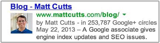 matt google authorship